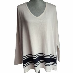 Tommy Hilfiger Oversized V-neck Sweater Size XS